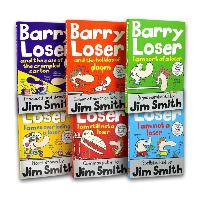 Barry Loser Collection 6 Books Set - Action & Adventure - Paperback - Jim Smith 7-9 Egmont