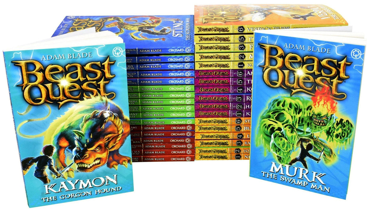 Beast Quest Series 1 To 6 - 36 Books - Fantasy Fiction - Paperback - Adam Blade 7-9 Orchard Books