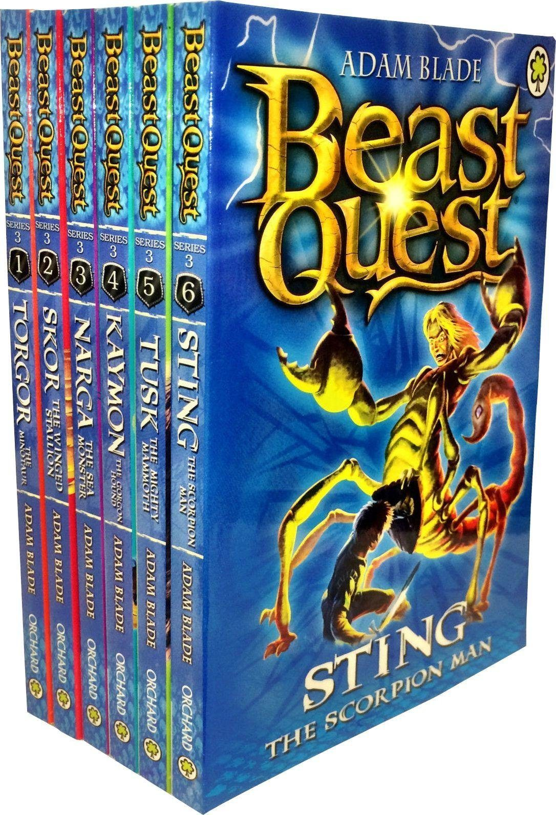 beast quest series 3  6 books  ages 79  paperback
