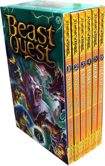 Beast Quest Series 4 - Pack of 6 books - Ages 7-9 - Paperback - Adam Blade 7-9 Orchard Books
