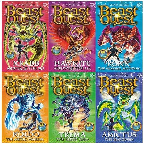 beast quest series 5  collection of 6 books  ages 79