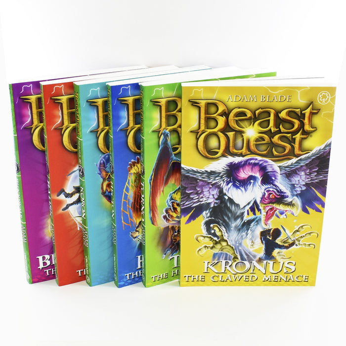 7-9 - Beast Quest Series 8 Box Set 6 Books Ages 7-9 Paperback By Adam Blade