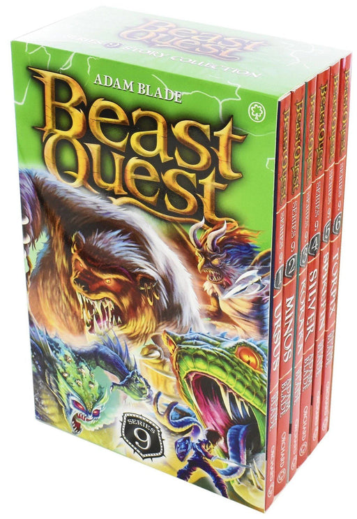 Beast Quest Series 9 Box Set 6 Books Ages 7-9 Paperback By Adam Blade - Books2Door