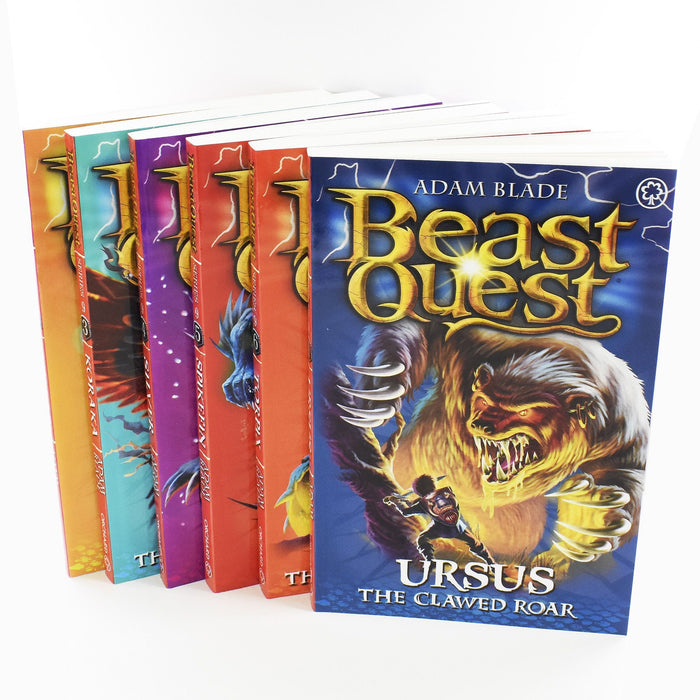 Beast Quest Series 9 Box Set 6 Books Ages 7-9 Paperback By Adam Blade 7-9 Orchard