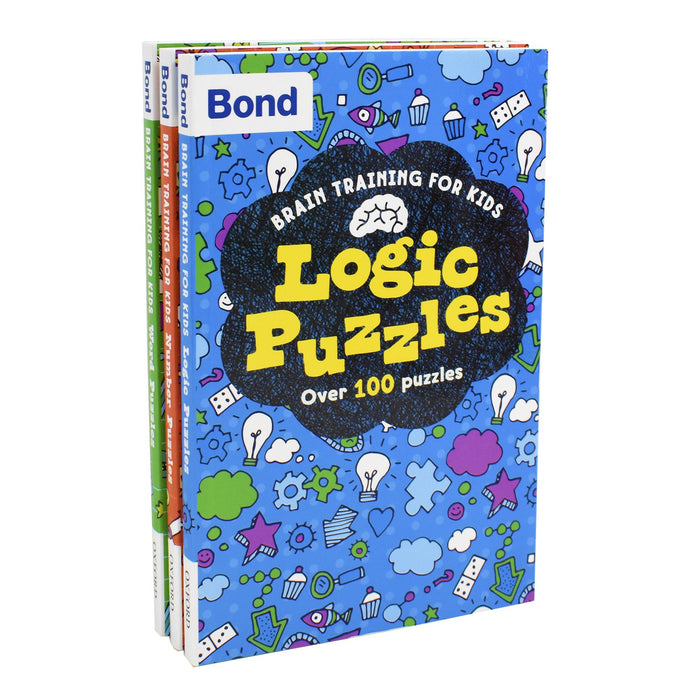 7-9 - Bond Brain Training Puzzles For Kids Oxford 3 Books Collection - Paperback- Age 7-9
