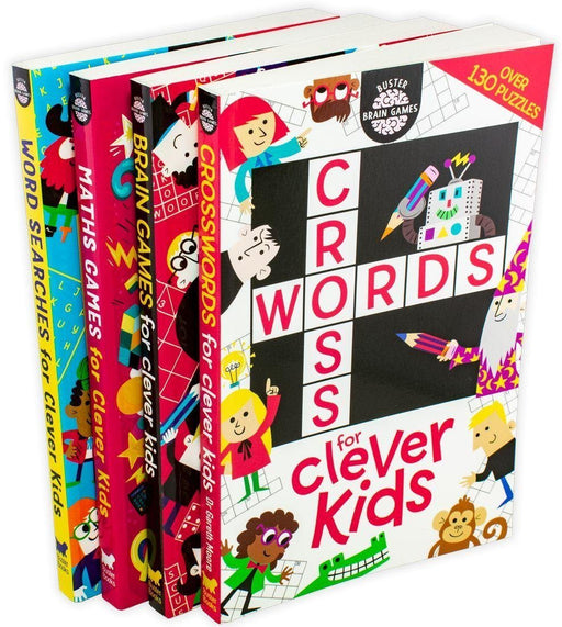 Buster Brain Games for Clever Kids 4 Book Collection - Ages 7-9 - Paperback - Gareth Moore 7-9 Buster Books