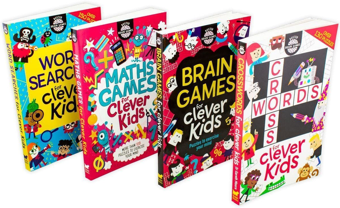 Buster Brain Games for Clever Kids 4 Book Collection - Ages 7-9 - Paperback - Gareth Moore - Books2Door