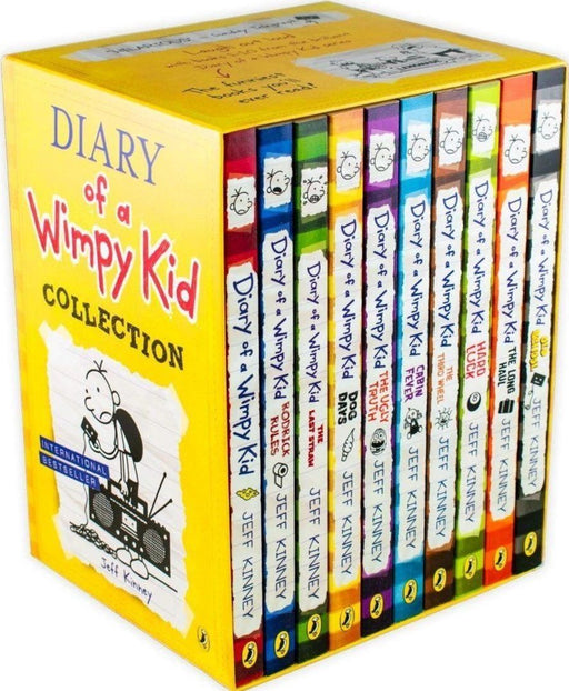 Diary of a Wimpy Kid Collection 10 Books Pack Box Set - Ages 7-9 - Paperback - Jeff Kinney 7-9 Puffin