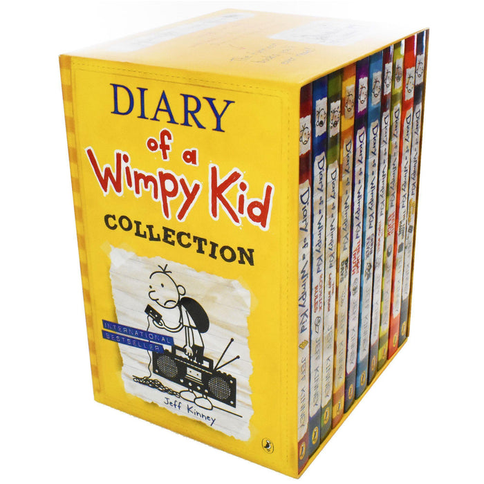 Diary of a Wimpy Kid Collection 10 Books Pack Box Set - Ages 7-9 - Paperback - Jeff Kinney - Books2Door