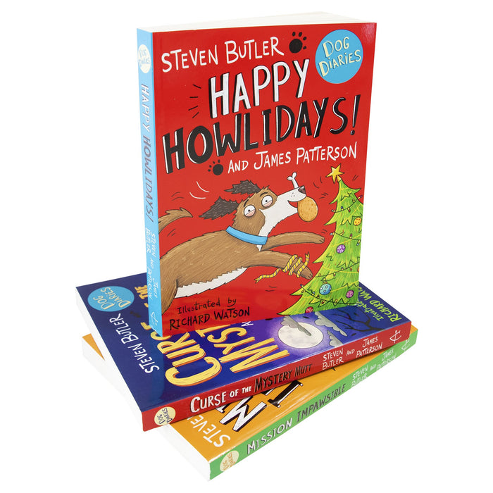 7-9 - Dog Diaries 3 Books Collection Set - Ages 7-9 - Paperback By Steven Butler