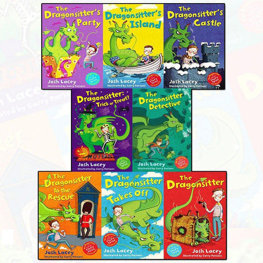 7-9 - Dragonsitter Series Josh Lacey Collection 8 Books Set - Paperback- Age 9-14
