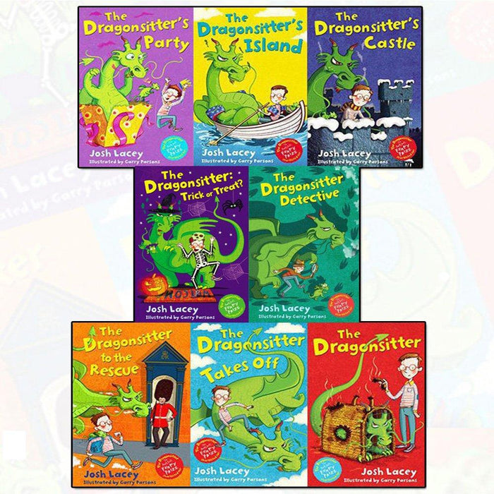 Dragonsitter series Josh Lacey Collection 8 Books Set - Paperback- Age 9-14 7-9 Andersen Press