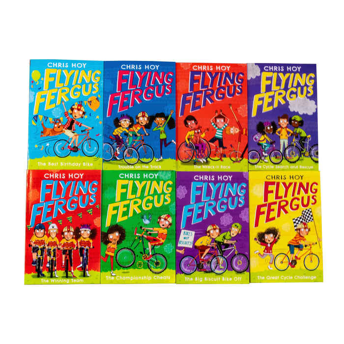 Flying Fergus 8 Book Collection - Ages 7-9 - Paperback - Sir Chris Hoy 7-9 Piccadilly Press