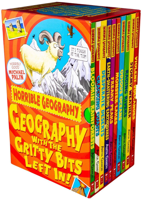 Horrible Geography 10 Book Collection - Ages 7-9 - Paperback - Anita Ganeri 7-9 Scholastic