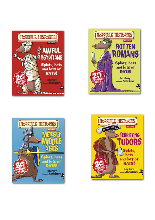 7-9 - Horrible Histories 4 Books Collection - Age 7+ - Paperback By Terry Deary