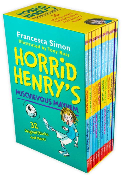 Horrid Henry Cheeky and Mischievous Mayhem The Complete Story Collection 20 Books Box Set - Ages 7-9 - Paperback - Francesca Simon - Books2Door