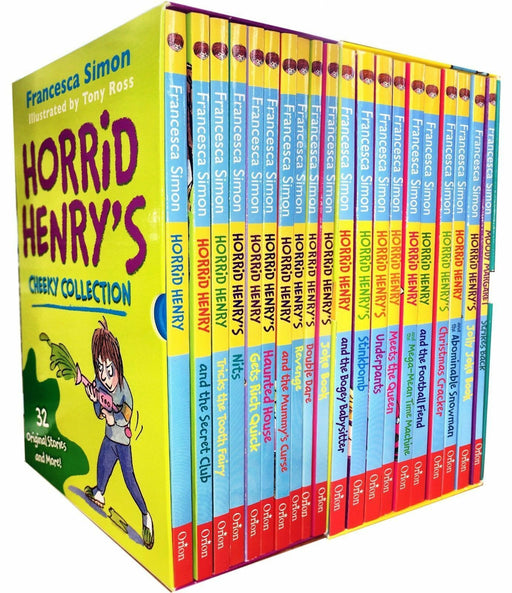 Horrid Henry Cheeky and Mischievous Mayhem The Complete Story Collection 20 Books Box Set - Ages 7-9 - Paperback - Francesca Simon 7-9 Orion