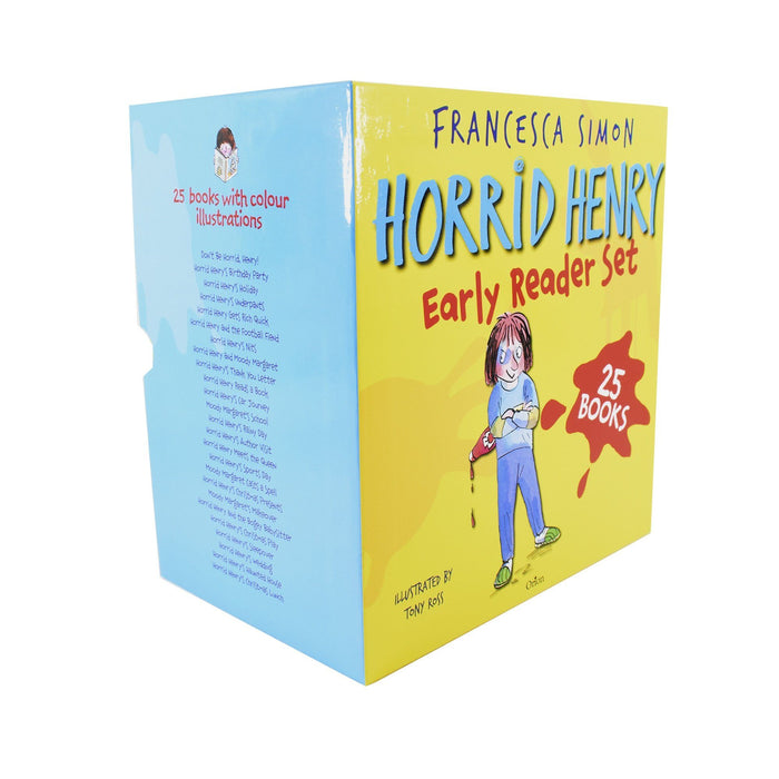 7-9 - Horrid Henry Early Readers 25 Books Children Collection - Ages 7-9 - Paperback Box Set By Francesca Simon