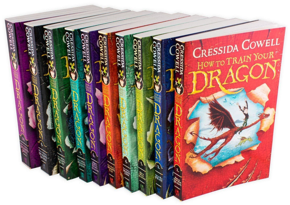 How to Train Your Dragon 10 Book Collection - Ages 7-9 - Paperback - Cressida Cowell - Books2Door