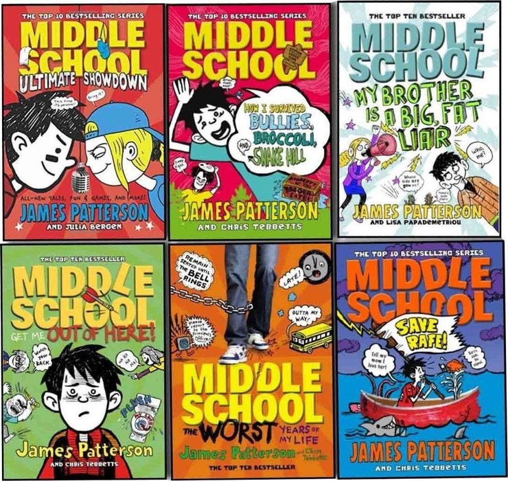 James Patterson Middle School 6 Books Collection - Ages 7-9 - Paperback - Books2Door
