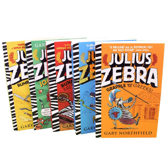Julius Zebra 5 Kids Books Children Collection - Ages 7-9 - Paperback - Gary Northfield - Books2Door