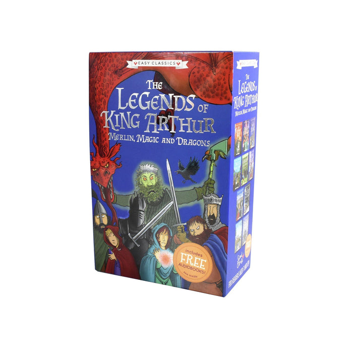 7-9 - Legends Of King Arthur Easy Classic 10 Books - Ages 7-9 - Paperback Box Set By Tracey Mayhew