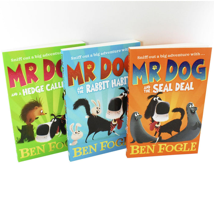 Mr Dog & The Rabbit Habit 3 Books - Children's literature - Paperback - Ben Fogle 7-9 Harper Collins