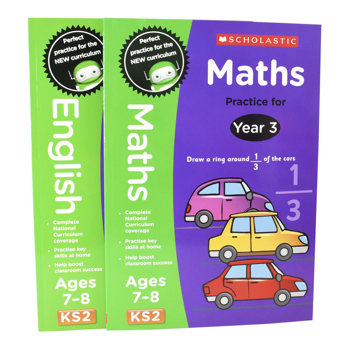 7-9 - Perfect Practice KS2 English And Maths Year 3  - 2 Books For Age 7-8 Years - Paperback