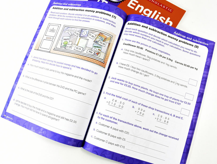 7-9 - Perfect Practice KS2 English And Maths Year 4  - 2 Books For Age 8-9 Years - Paperback