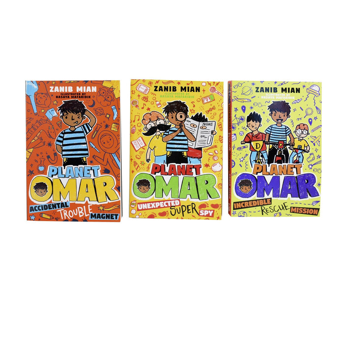 7-9 - Planet Omar 3 Books Collection Set- Ages 7-9 - Paperback - Zanib Mian