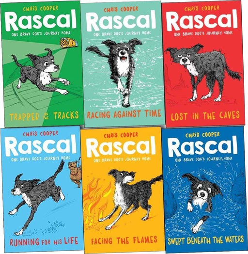 Rascal Story Brave Dogs Journey Home 6 Books Collection - Ages 7-9 - Paperback - Chris Cooper - Books2Door