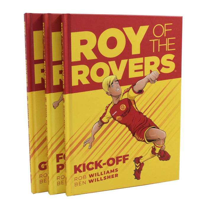 Roy of the Rovers Comic Graphic Novel 3 Books Collection - Ages -7-9 - Hardback By Rob Williams 7-9 Rebellion