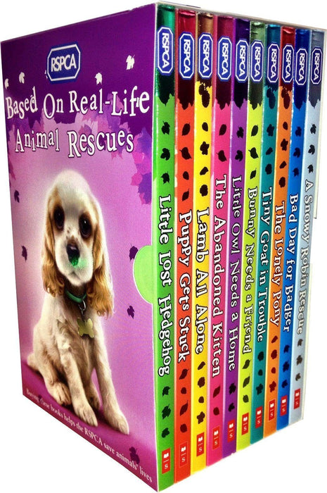 RSPCA Animal Rescue Pets 10 Childrens Books Box Set - Ages 7-9 - Paperback - Mongredien Sue - Books2Door