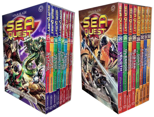 Sea Quest 16 Books Box Set Collection- Series 5 - 8 - Ages 7-9 - Paperback - Adam Blade - Books2Door