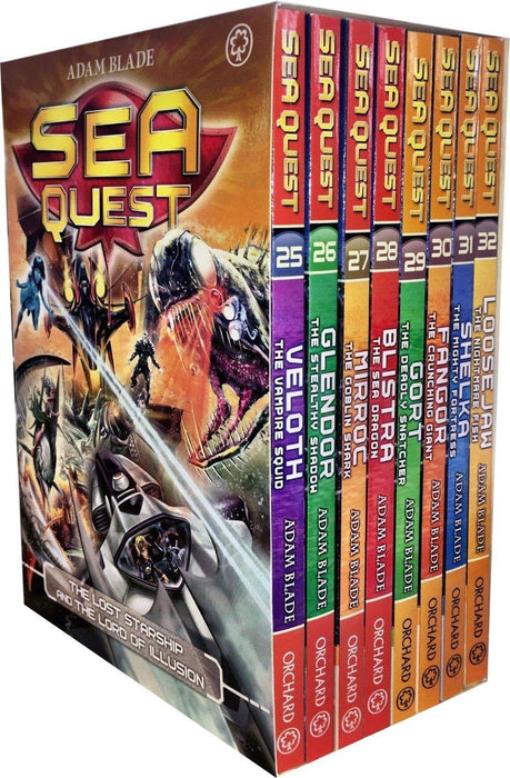 Sea Quest Series 7 & 8 Set 8 Books Box - Science Fiction - Paperback - Adam Blade 7-9 Orchard Books