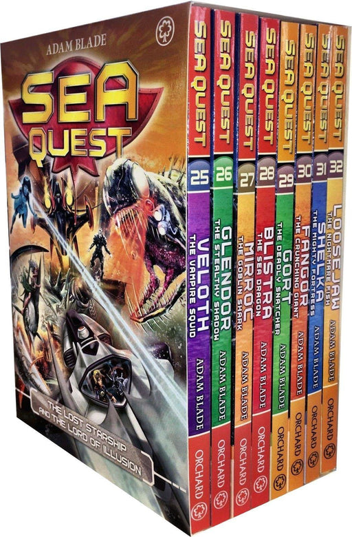 Sea Quest Series 7 & 8 Set 8 Books Box - Science Fiction - Paperback - Adam Blade - Books2Door