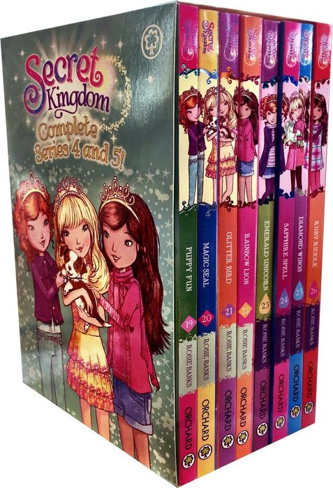 Secret Kingdom Series 4 and 5 - 8 Books Box Set (19-26) - Ages 7-9 - Paperback - Rosie Banks 7-9 Orchard Books