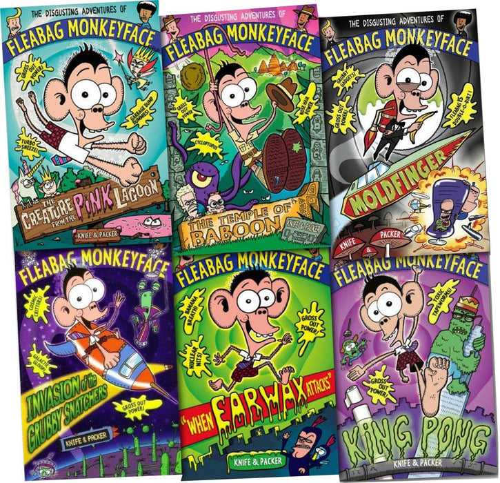 The Disgusting Adventures of Fleabag Monkeyface 6 Book Collection - Books2Door