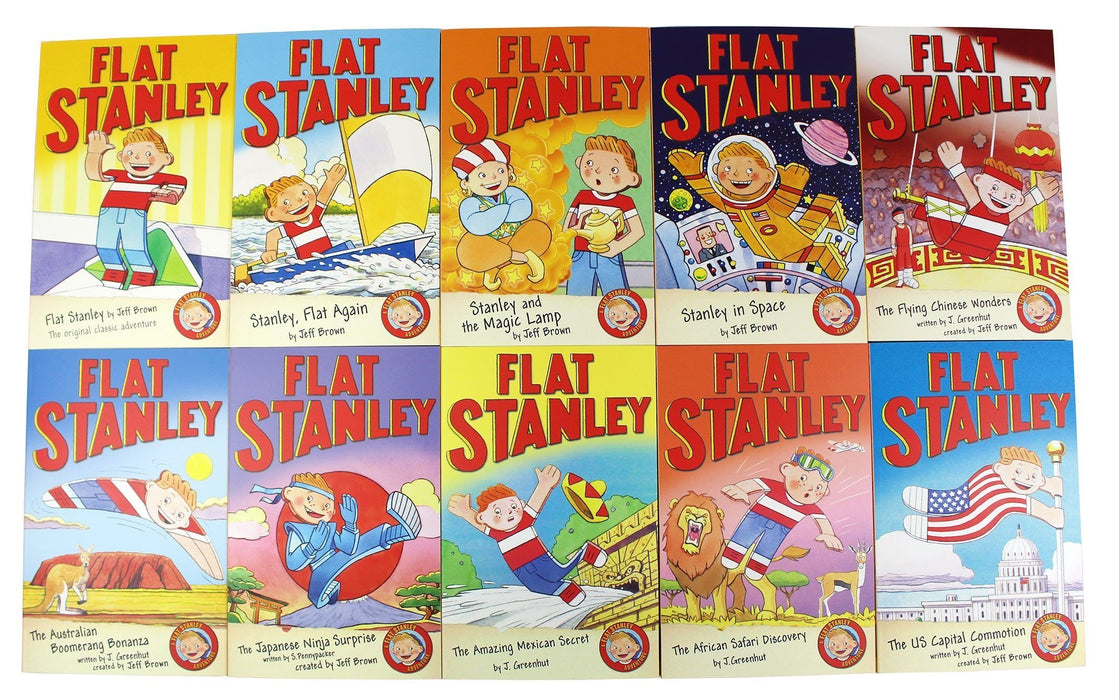 The Flat Stanley Adventure 10 Books Collection Box Set - Children's Literature - Paperback - Jeff Brown - Books2Door