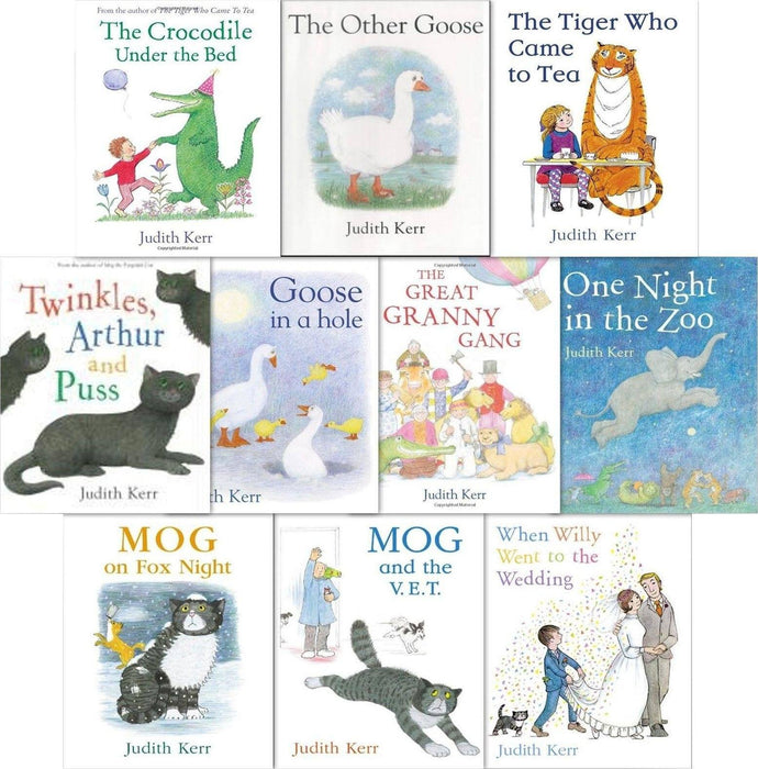 The Judith Kerr Collection Tiger Who Came To Tea 10 Books Set - Ages 7-9 - Paperback - Books2Door