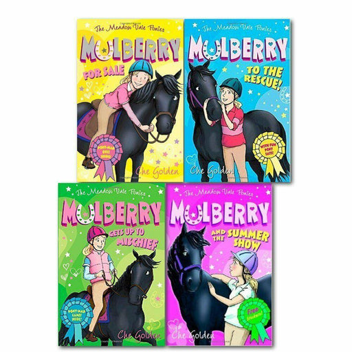 The Meadow Vale Ponies Mulberry 4 Book Collection - Ages 7-9 - Paperback - Che Golden - Books2Door