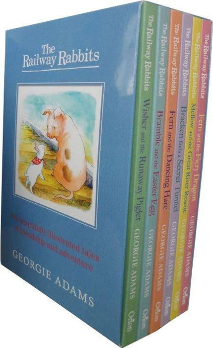 The Railway Rabbits 6 Books Box Set - Ages 7-9 - Paperback - Georgie Adams 7-9 Orion