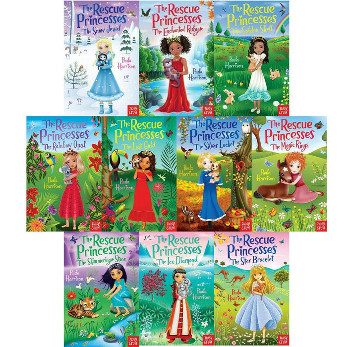 The Rescue Princesses 10 Books Collection Set - Ages 7-9 - Paperback - Paula Harrison - Books2Door