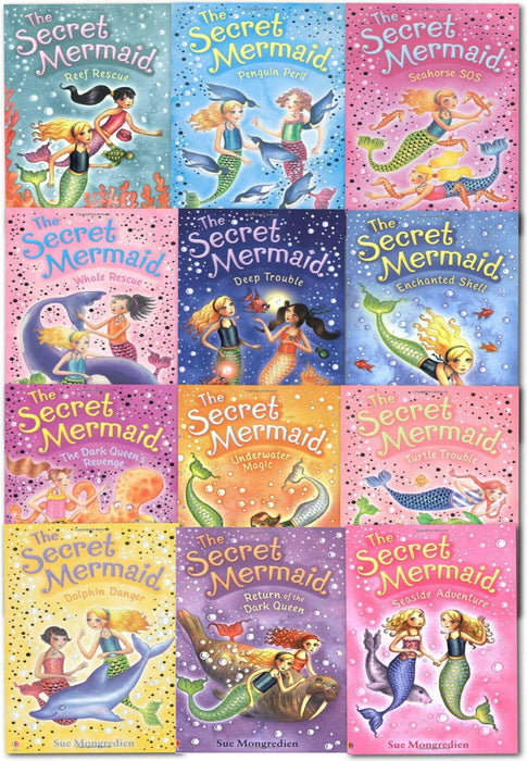 The Secret Mermaid 12 Book Collection - Ages 7-9 - Paperback - Sue Mongredien - Books2Door
