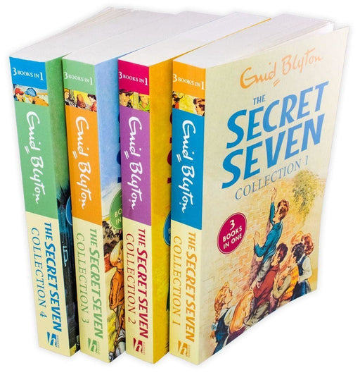 The Secret Seven 4 Book 12 Story Collection - Ages 7-9 - Paperback - Enid Blyton 7-9 Hodder & Stoughton