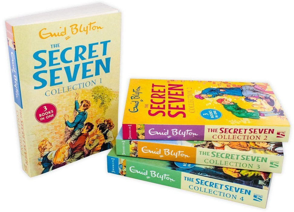 The Secret Seven 4 Book 12 Story Collection - Ages 7-9 - Paperback - Enid Blyton - Books2Door