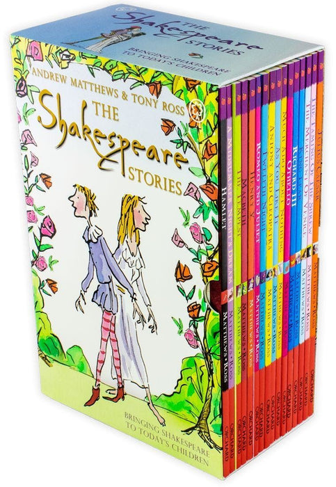 The Shakespeare Stories 16 Book Collection - Ages 7-9 - Paperback - Andrew Matthews, Tony Ross - Books2Door