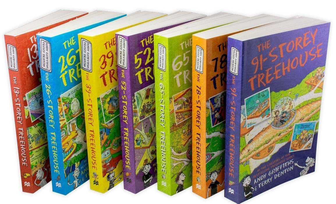 The Treehouse 7 Book Collection - Ages 7-9 - Paperback -  Andy Griffiths and Terry Denton - Books2Door