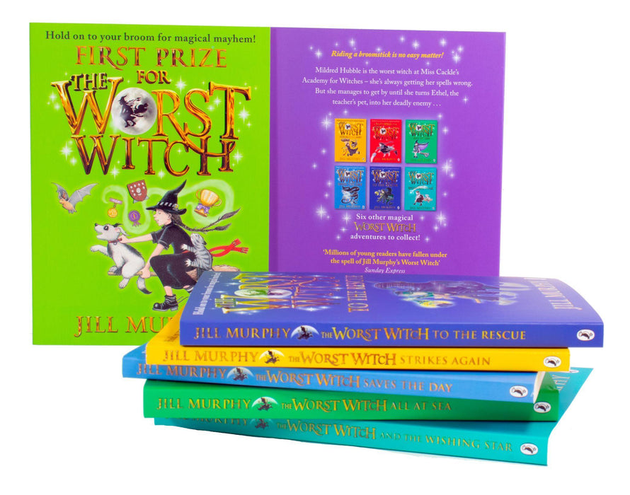 The Worst Witch Complete Adventure 7 Books Collection Set - Ages 7-9 - Paperback - Jill Murphy - Books2Door