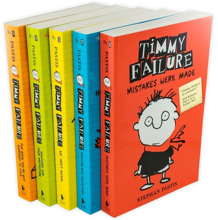 Timmy Failure Totally Catastrophic 5 Book Collection - Ages 7-9 - Paperback - Stephan Pastis 7-9 Walker Books